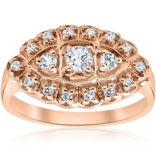 1/2ct Antique Diamond Ring 14K Rose Gold (G/H, I1)