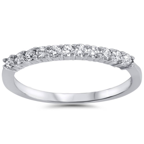 1/4ct Diamond Wedding Ring 14K White Gold (E/F, VS1-VS2)