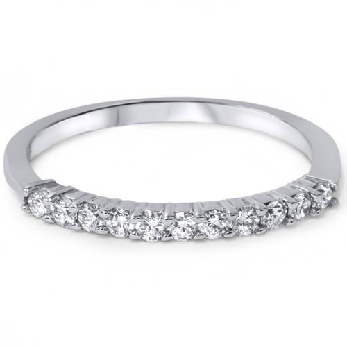 1/4ct Diamond Wedding Ring 14K White Gold (E/F, VS1-VS2)