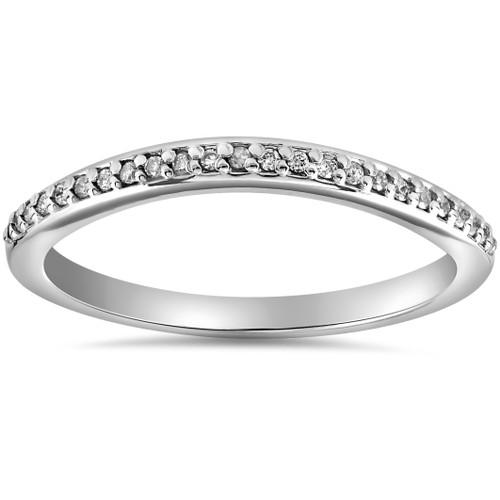 1/10 cttw Diamond Guard Engagement Wedding Ring Enhancer Band 14k White Gold (H/I, I1-I2)
