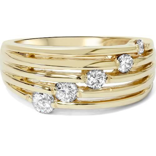 14k Gold 1/2ct Fancy Womens Right Hand Diamond Ring (G, I1)