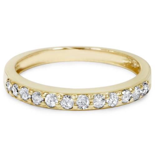 1/2ct SI Diamond Wedding Ring 14K Yellow Gold (G/H, I1)