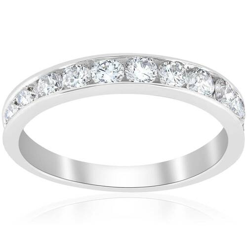 VS 950 Platinum 1ct Channel Set Diamond Wedding Ring (G-H, VS)