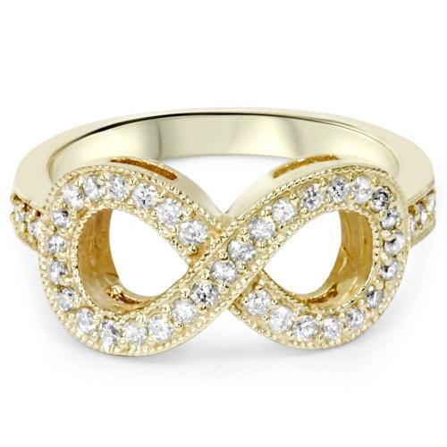 1/3ct Diamond Infinity Ring 10K Yellow Gold (H/I, I2-I3)
