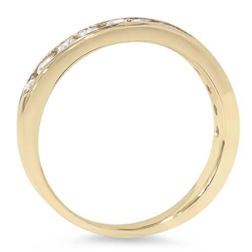 1/2ct 14K Yellow Gold Channel Set Diamond Wedding Ring (G/H, I1)