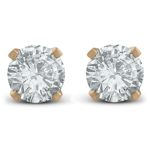 7/8ct Diamond Studs 14K Yellow Gold (G/H, SI2/SI3)