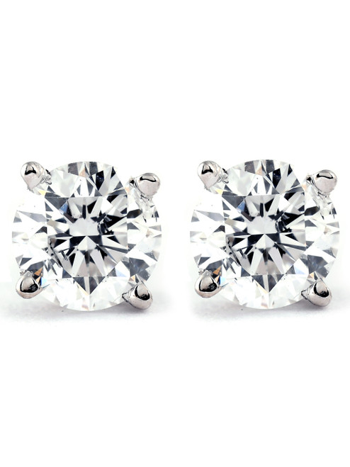 3/4Ct Natural Diamond Studs Available in 14K White And Yellow Gold Setting (I/J, I2-I3)