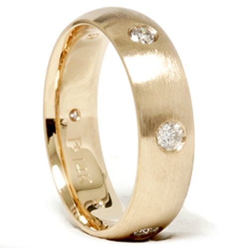 Mens 3/4ct Gold Diamond Comfort Fit Wedding Ring Band (G/H, SI)