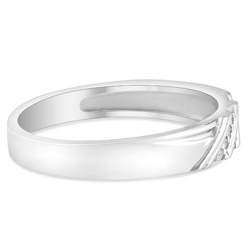 1/10ct Diamond Mens Ring 14K White Gold (G/H, SI2)