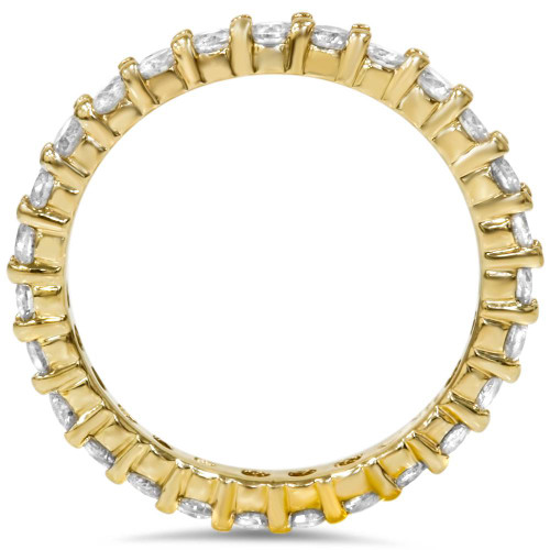 1 1/2ct Prong Diamond Eternity Ring 14K Yellow Gold (G/H, SI)