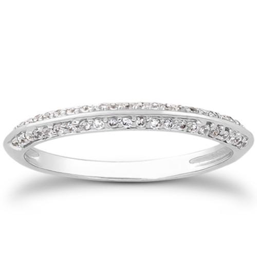 3/4ct Split Shank Diamond Engagement Wedding Ring Set 14K White Gold (G/H, I1)