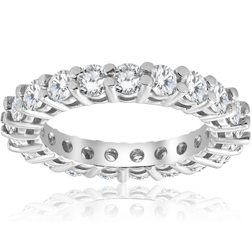 2 3/8ct Diamond Eternity Ring 14k White Gold (H-I, I2-I3)