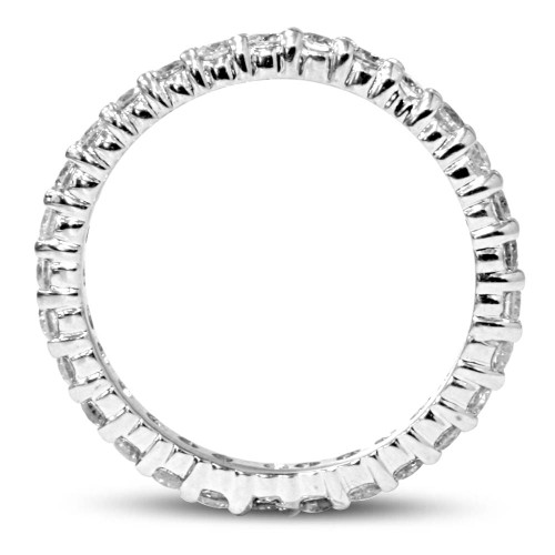 1 3/4ct Diamond Eternity Ring 14K White Gold (F, SI(1)-SI(2))