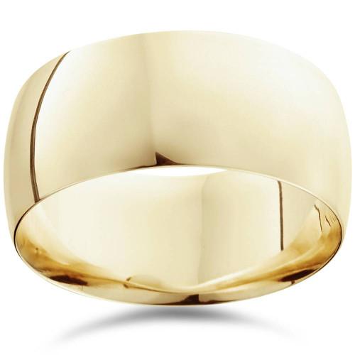 10mm Dome High Polished Wedding Band 10K Yellow Gold