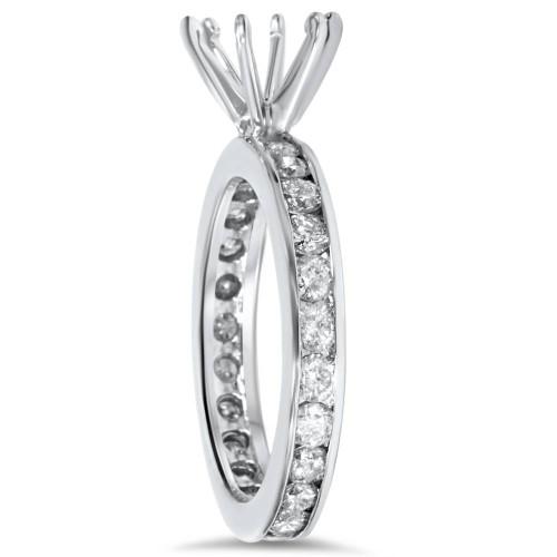 1 1/2ct Diamond Eternity Engagement Setting Mount Ring (G/H, I1)