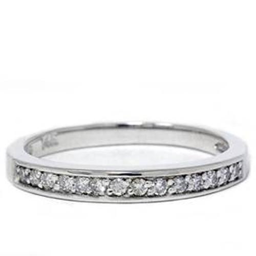 1/5ct Diamond Wedding 14K White Gold Anniversary Ring (G/H, I2)