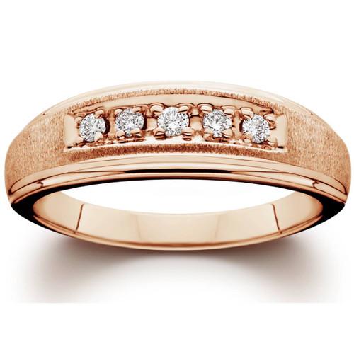 Mens Diamond Ring 14K Rose Gold (H/I, I1-I2)