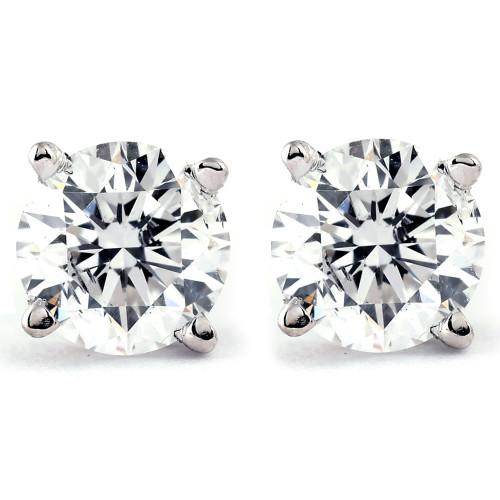 1/5ct Diamond Studs 14K White Gold (J-K, I2-I3)