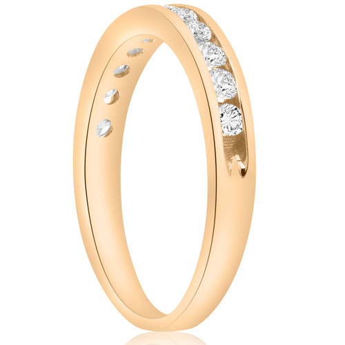 1/2 cttw Diamond Channel Set Wedding Ring 10k Yellow Gold (H-I, I1-I2)