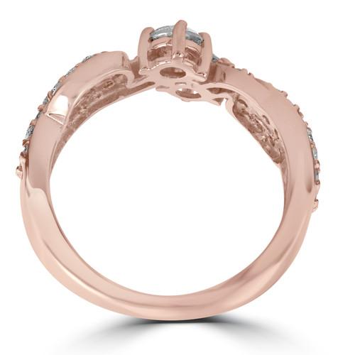 1 cttw Forever Us 2-Stone Diamond Ring 14k Rose Gold (G/H, I1-I2)