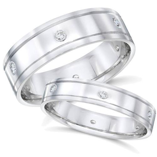 1/3ct Matching His Hers Diamond Wedding 14K Gold Rings (G/H, SI)