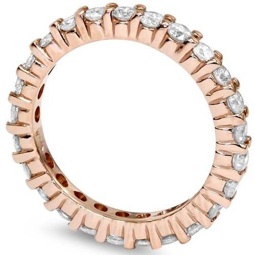 1 Carat Diamond Eternity Ring 14K Rose Gold (I/J, I2-I3)