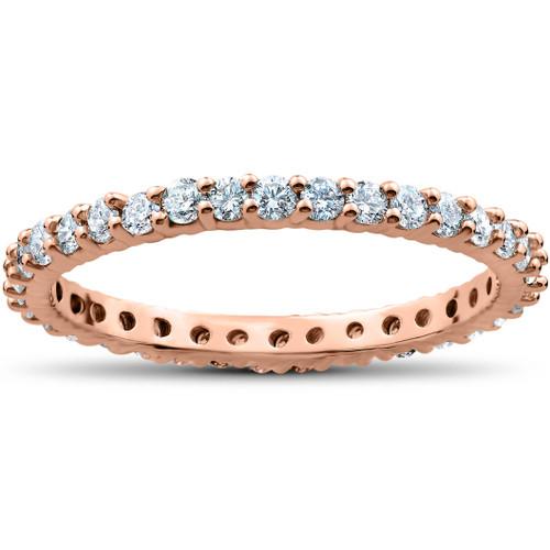 1 Carat Diamond Eternity Ring 14K Rose Gold (I/J, I2-I3)