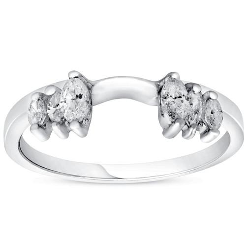 5/8ct Marquise Diamond Ring Enhancer 14K White Gold (G/H, SI)