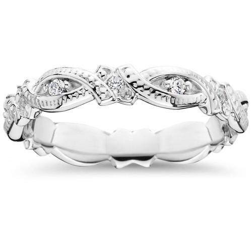 1/4ct Diamond Eternity Ring 14K White Gold (G/H, I1-I2)