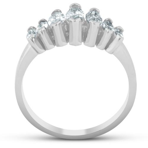 14K White Gold 3/4ct Marquise Diamond Anniversary Ring (G/H, SI)