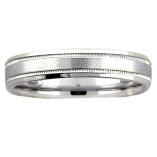 4mm 950 Platinum Comfort Fit Wedding Band