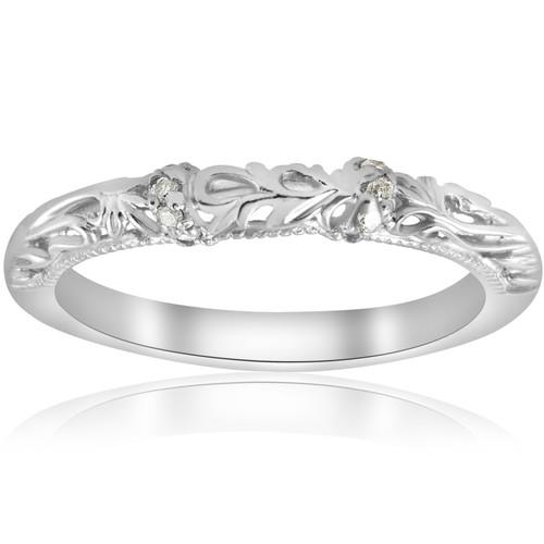 1/20ct Vintage Diamond Wedding Band 950 Platinum (G/H, SI1-SI2)
