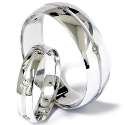 1/3ct Diamond Matching His Hers Wedding Band 14K Set (G/H, SI)