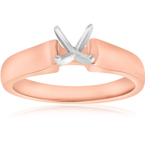 14K Rose Gold Solitaire Ring Engagement Setting Mounting Solitaire