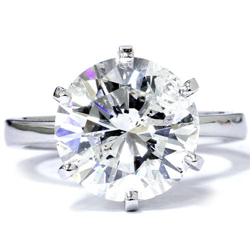 3 Carat Round Cut Enhanced Diamond Engagement Wedding Solitaire 14K White Gold (G/H, SI1-SI2)