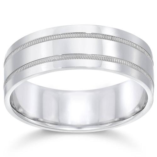 7mm 950 Platinum Comfort Fit Wedding Band NEW Ring