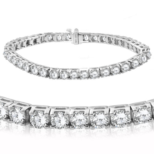 "12ct Diamond Tennis Bracelet 14 Karat White Gold 7"" (G/H, SI)"
