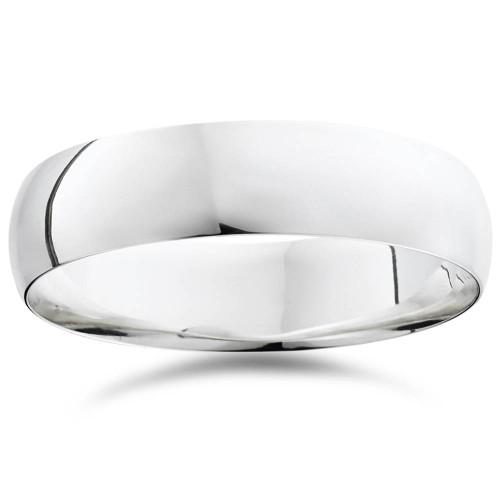 High Polished Wedding Band 950 Platinum Plain