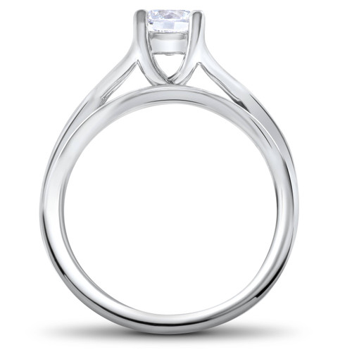1/2ct Intertwined Diamond Engagement Ring Set 14K White Gold (G/H, I1-I2)