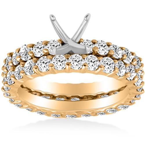 3ct Diamond Eternity Wedding Engagement Ring Setting (H, I1)