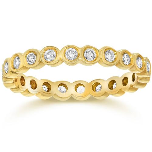 5/8CT Diamond Bezel Eternity Stackable Band 14K Yellow Gold (H/I, I1-I2)