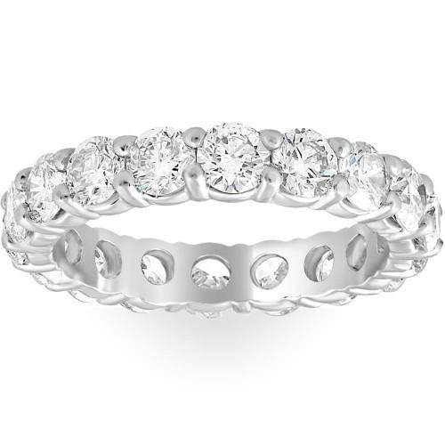 Platinum 3ct Round Diamond Eternity Wedding Ring (G/H, I1)