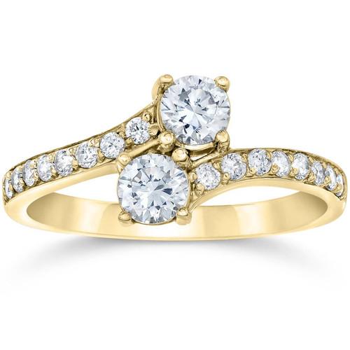 1 Carat Forever Us 2 Stone Diamond Ring 10K Yellow Gold (H/I, I1-I2)