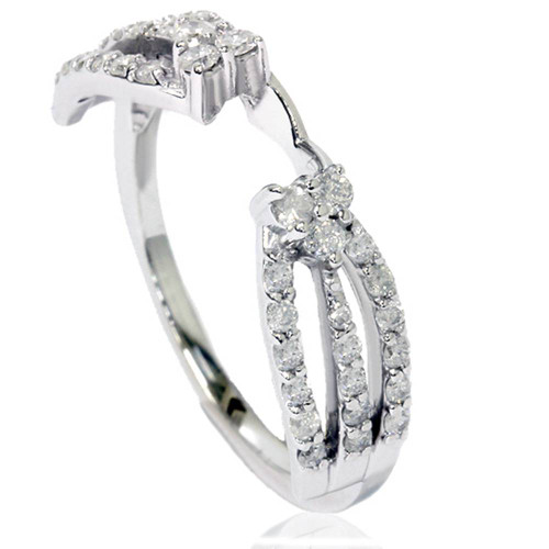 1/2ct Diamond Guard Wrap Ring 14K White Gold (G/H, I1-I2)