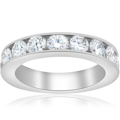 1 1/2ct Diamond 14K White Gold Wedding Ring (G, I1)
