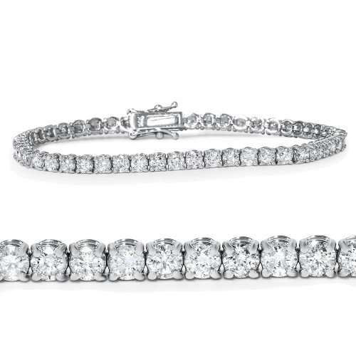 5ct Diamond Tennis Bracelet 14K White Gold (G, I1-I2)