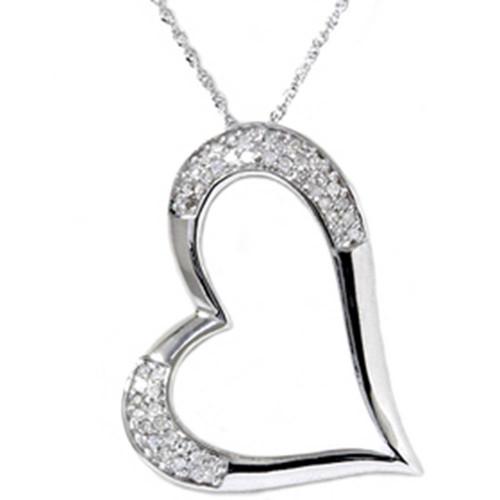 1/2ct Pave Real Diamond Heart Shape White Gold Pendant (G/H, I1)