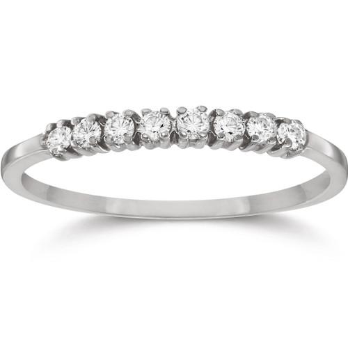 1/5ct Diamond Wedding Ring 14K White Gold (G/H, I1)