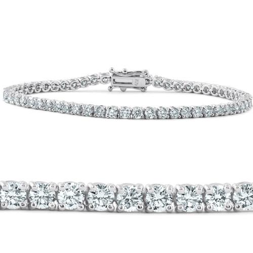 "5 Ct Diamond Tennis Bracelet 18k White Gold 7"" Lab Grown Eco Friendly (G, VS)"