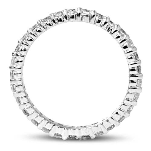 1 1/2ct Diamond Eternity Ring 14K White Gold (G/H, I1-I2)